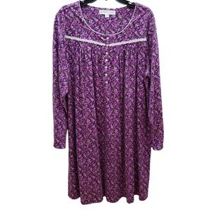 Eileen West Cotton Knit Nightgown XL New